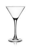 Empty martini glass. Royalty Free Stock Photography