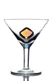 Empty martini glass Stock Image