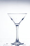 Empty martini glass Stock Images