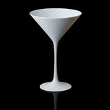 Empty Martini Glass On Black Background Royalty Free Stock Images