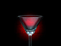 Empty martini glass. Royalty Free Stock Images
