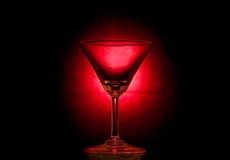 Empty martini glass. Royalty Free Stock Photography