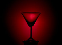 Empty martini glass. Royalty Free Stock Image