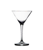 Empty martini glass isolated on the white Stock Photos