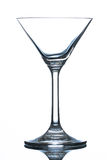 Empty martini glass on white. Royalty Free Stock Photo