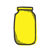 Empty mason jar isolated vector illustration popart style Royalty Free Stock Photography