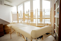 Empty massage table Stock Photography
