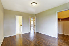 Empty master bedroom with walk-in closet Stock Image