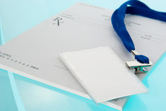 Empty medical prescription with identification tag Royalty Free Stock Photo