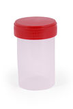 Empty medical sterile container Clipping path Stock Photos