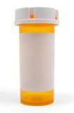 Empty Medicine Bottle. With a blank white label Royalty Free Stock Image