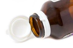 Empty Medicine Bottle With Open Cap. Stock Images
