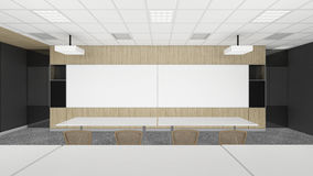 Empty meeting conference room in office corporate with black spa Stock Image
