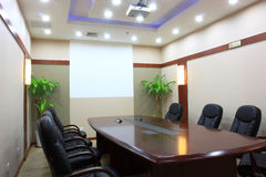 Empty meeting room royalty free stock photography