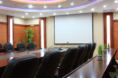 Empty meeting room stock images