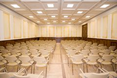 Empty meeting room. Empty elegant classroom or meeting room Stock Photography