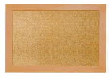 Empty memo board. Isolated on white background Royalty Free Stock Photography