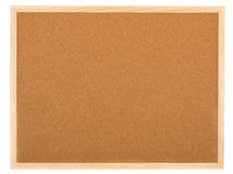 Empty memo cork board isolated on white Royalty Free Stock Photography