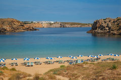 Empty menorcan beach Stock Photo
