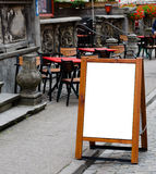 Empty menu board with clipping path Stock Image