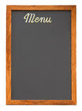 Empty menu board cutout Royalty Free Stock Photography