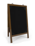 Empty menu board isolated on white. 3d illustration Stock Photos
