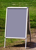 Empty menu board Stock Photography