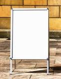 Empty menu board Stock Photos