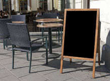 Empty menu board Stock Photography