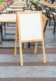 Empty menu board Royalty Free Stock Photography