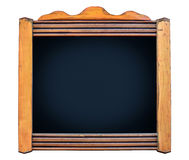 Empty menu board with wooden frame Royalty Free Stock Photo