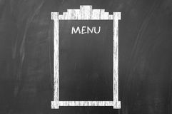 Empty menu concept on blackboard Stock Photography