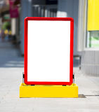 Empty menuboard Stock Photo