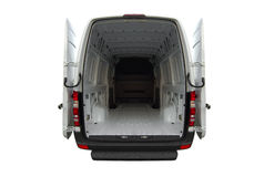 Empty Mercedes Sprinter van Royalty Free Stock Photos