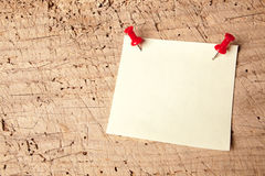 Empty message. Empty or blank notepad on a vintage wooden board Stock Images