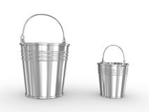 Empty metal bucket Stock Photos