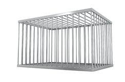 Free Empty Metal Cage Royalty Free Stock Image - 165623196