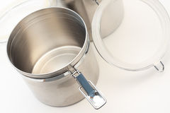 Empty metal container - nothing inside. Empty metal container with nothing inside Royalty Free Stock Photography