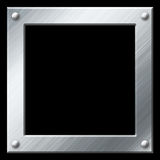 Empty metal frame isolated on black Stock Photo