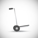 Empty metal hand truck Royalty Free Stock Photography