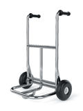 Empty metal hand truck Stock Photo