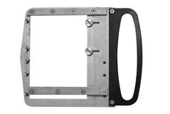 Empty metal photo frame Stock Photo