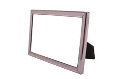 Empty metal picture frame isolated. On white background Royalty Free Stock Photo