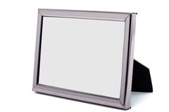 Empty metal picture frame isolated Stock Photos