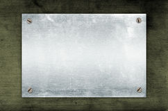 Empty Metal Plate royalty free illustration