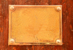 Empty metal plate Royalty Free Stock Photography