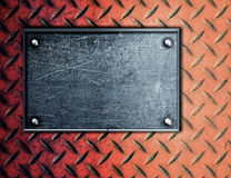 Empty metal plate background Royalty Free Stock Photography