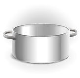 Empty metal pan  Royalty Free Stock Photography