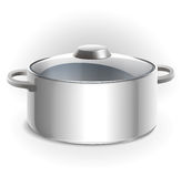 Empty metal pan with lid Royalty Free Stock Photo