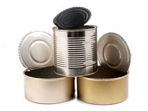 Metal can four Royalty Free Stock Photography
